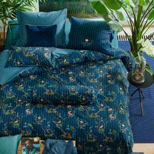 Dark Blue Singerie Cotton Quilt Cover Set