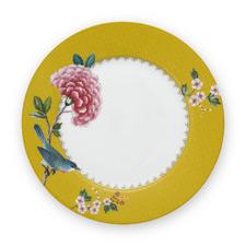 21cm Yellow Blushing Birds Breakfast Plate