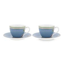 La Majorelle Espresso Cups & Saucers (Set of 2)