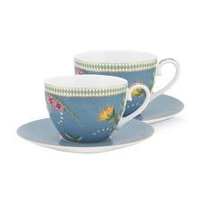 La Majorelle Cups & Saucer (Set of 2)
