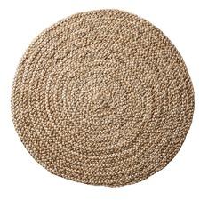 Beach Sand Braided Natural Gold Round Rug