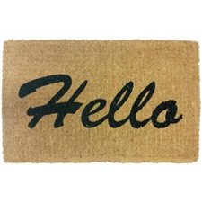 Hello Coir Doormat