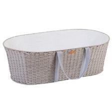 ChildHome 2 Piece Weave Moses Basket & Mattress Set