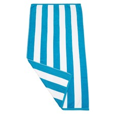 Aqua & White Havana Stripe Beach Towel
