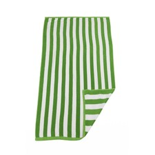 Green & White Hawaiian Stripe Beach Towel