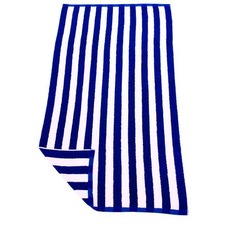 Navy & White Hawaiian Stripe Beach Towel