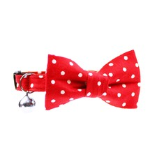 Red Polka Dot Cat Collar & Bow Tie