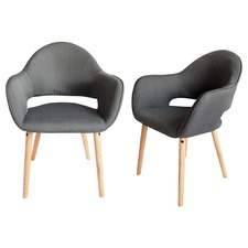 Charcoal Atlas Fabric Chair (Set of 2)