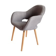 Grey Atlas Fabric Chair (Set of 2)