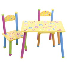 ABC Table & Chair Set (Set of 3)