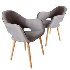 Grey Atlas Fabric Chair (Set of 2)