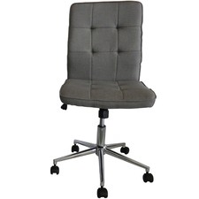 Dark Grey Oslo Linen Gas Lift Office Chair
