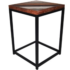 Distressed Accent Side Table