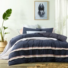 Theo Denim Quilt Cover Set