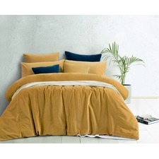 Gold Harmony Cotton Velvet Quilt Cover Set