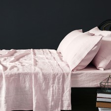 Blush Vintage Design Linen Sheet Set