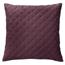 Glazed Ruby Diamond Quilted Velvet Euro Pillowcase