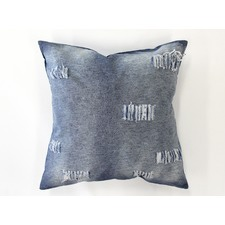 Distressed Denim Linen Cotton Cushion