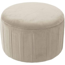 Round Preston Velvet Ottoman