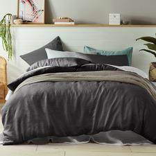 Slate Linen Quilt Cover Set