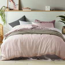 Blush Vintage Design Linen Quilt Cover Set
