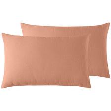 Terracotta French Linen Standard Pillowcases (Set of 2)