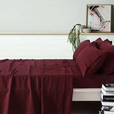 Merlot French Linen Sheet Set