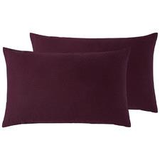 Merlot French Linen Standard Pillowcases (Set of 2)