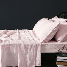 Pink French Linen Sheet Set