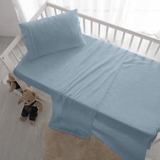 Lee Stonewashed Cotton Cot Sheet Set