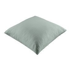 Fog Green Vintage Style Linen European Pillowcase