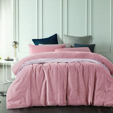 Smokey Rose Cotton Velvet Quilt Cover Set