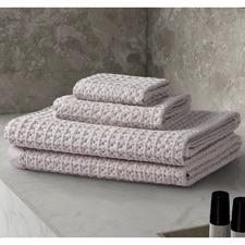 4 Piece Day Spa Cotton Waffle Towel Set
