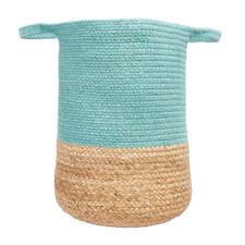 Maha Hand-Loomed Jute-Blend Basket