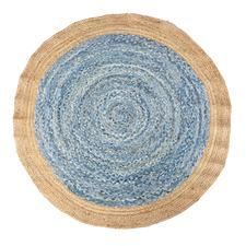 Sabra Hand-Loomed Jute-Blend Round Rug