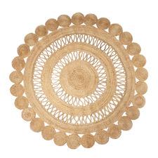 Malika Hand-Loomed Jute Round Rug