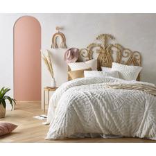 White Carmen Cotton Quilt Cover Set