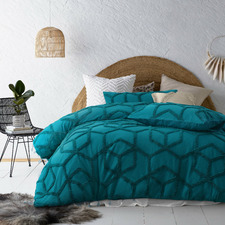 Teal Dreamweaver Cotton Quilt Cover Set