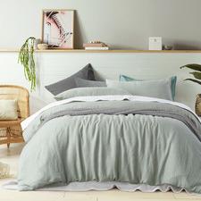 Fog Green Linen Quilt Cover Set