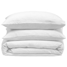 White French Linen Quilt Cover Set