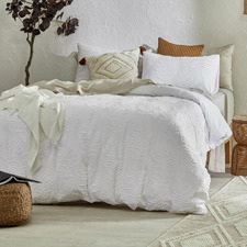 White Lucas Cotton Quilt Cover Set