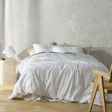 White Orion Cotton Quilt Cover Set