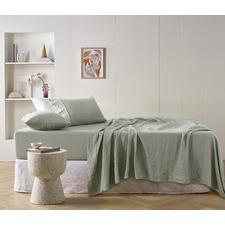 Sage Linen Sheet Set