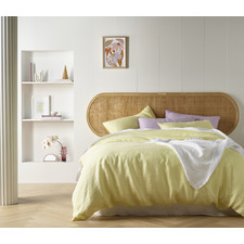 Butter French Linen Quilt Cover Set