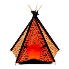 Orange Pet Teepee Tent