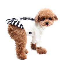 White Be With You Dog Dress