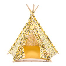 Geo Yellow Teepee Tent
