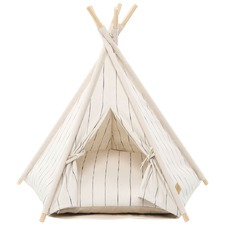 Ivory Pin Stripe Teepee Tent