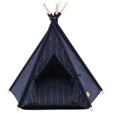 Navy Pin Stripe Teepee Tent