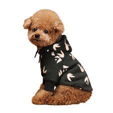 Charcoal Wing Hooded Dog Jacket